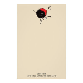 Singing And Dancing Evil Christmas Bug Stationery