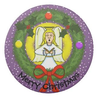 Singing Angel in Wreath Christmas Eraser