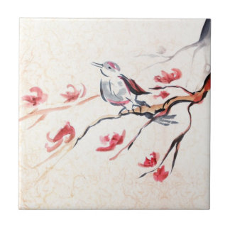 Singing Bird Background Tile