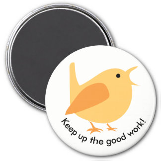 Singing Bird Magnet, Round Magnet