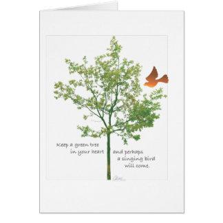 Singing Bird note card