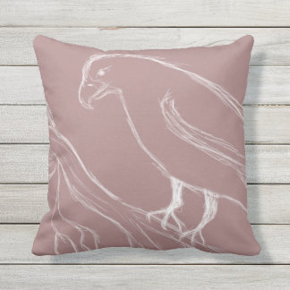 singing bird outdoor pillow