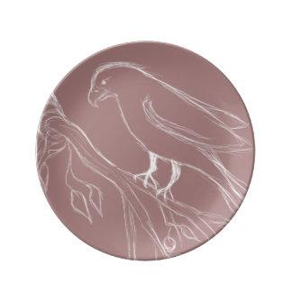 singing bird plate