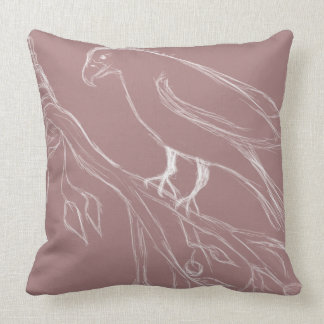 singing bird throw pillow