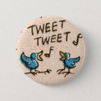 Singing Blue Birds 2 Inch Round Button