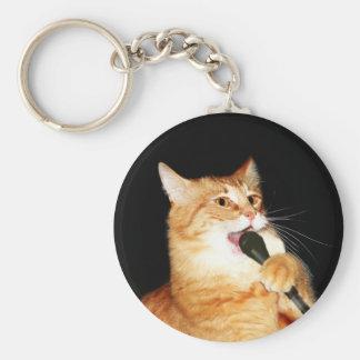 Singing cat keychain
