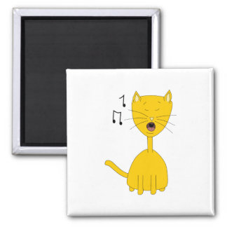 Singing Cat. Magnet