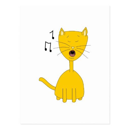 Singing Cat. Postcards