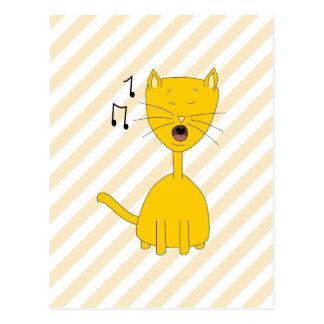 Singing Cat. Post Cards