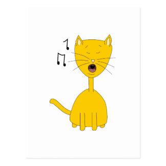 Singing Cat Postcards