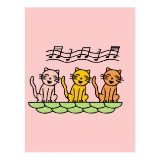 Singing Cats Tshirts and Gifts Post Cards