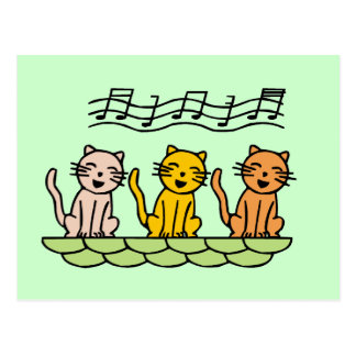 Singing Cats Tshirts and Gifts Post Card