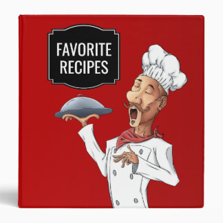 Singing Chef Favorite Recipes Vinyl Binder