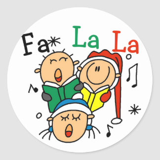 Singing Christmas Carols Tshirts and Gifts Classic Round Sticker