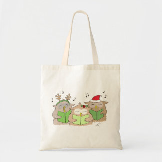 Singing Christmas Owls Tote