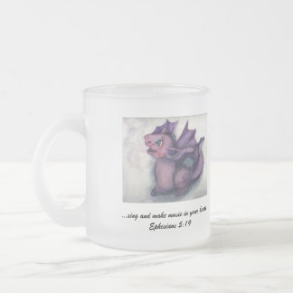Singing Dragon Frosted Glass Coffee Mug
