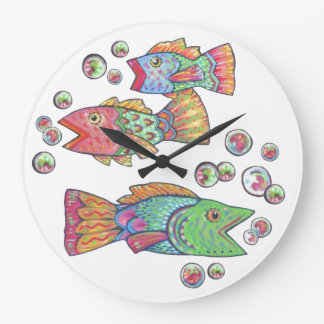 Singing Fish Large Clock