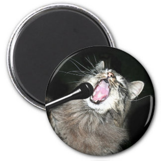 Singing for his supper 2 inch round magnet