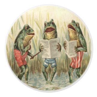 Singing Frogs Ceramic Knob