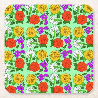 Singing Garden Square Paper Coaster