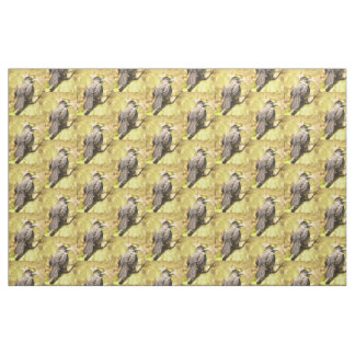 Singing Gray Catbird Fabric
