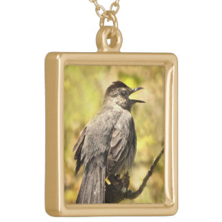 Singing Gray Catbird Necklace