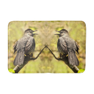 Singing Gray Catbirds Bathmat