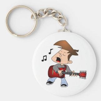 Singing Guitar Player Keychain