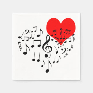 Singing Heart one-of-a-kind Disposable Napkins