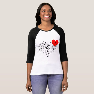 Singing Heart one of a kind funny T-Shirt