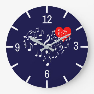 Singing Heart one-of-a-kind Large Clock