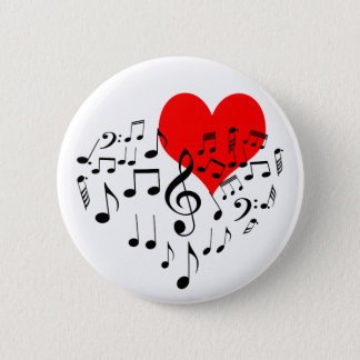 Singing Heart one-of-a-kind romantic beautiful 2 Inch Round Button