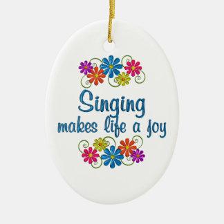 Singing Joy Ceramic Oval Ornament