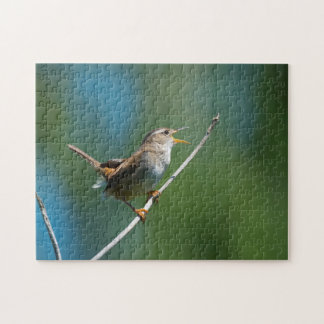 Singing Marsh Wren jigsaw puzzle