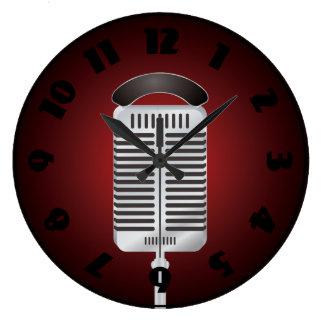 Singing Microphone Clock