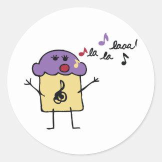 Singing Muffin - Sticker