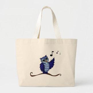 singing Owl Large Tote Bag