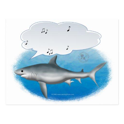 singing shark postcards