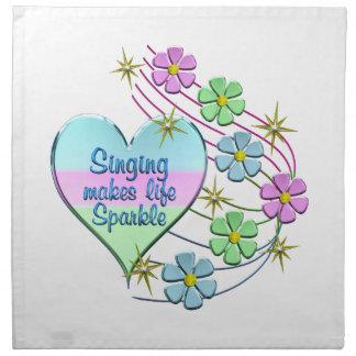 Singing Sparkles Napkin