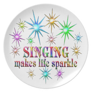 Singing Sparkles Party Plates
