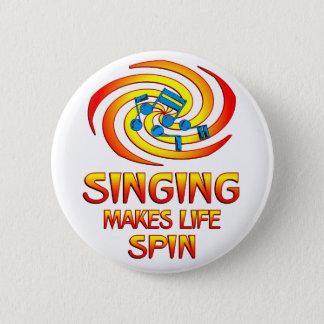 Singing Spins 2 Inch Round Button