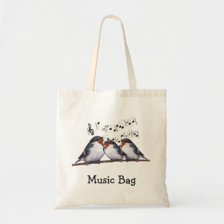Singing Swallows: Birds: Music Bag, Choir Tote Bag