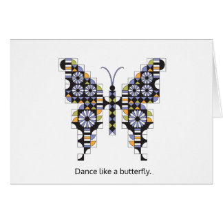 Singing Swallowtail Quilt Pattern Note Card