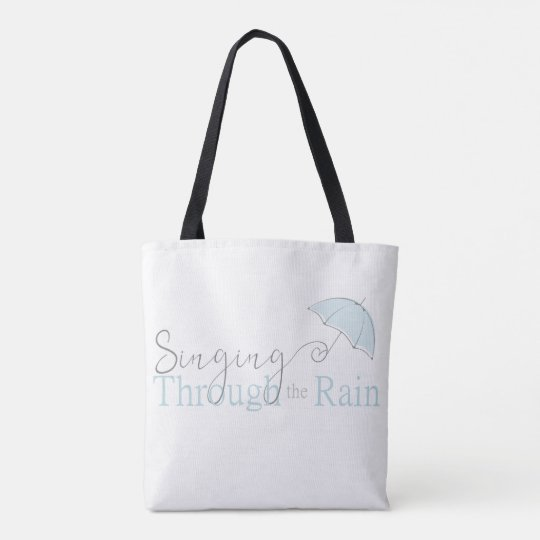 Singing Through the Rain Tote Bag