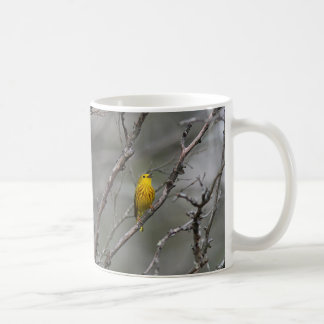 Singing Yellow Warbler Coffee Mug