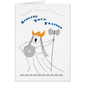 Singing Your Praises Thank You Note Card