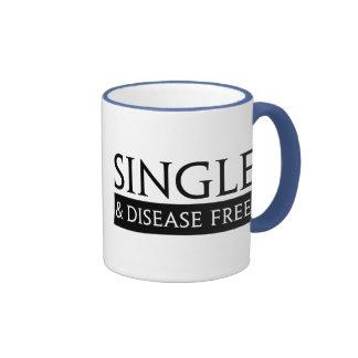 Single And Disease Free! Ringer Mug