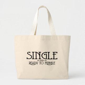 Single and Ready to Mingle Canvas Bag