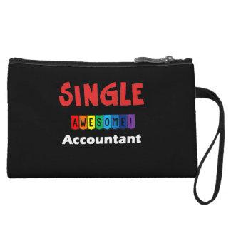 Single Awesome Accountant Wristlets
