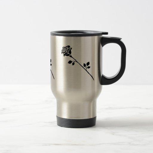 Single Black Bloom Mug